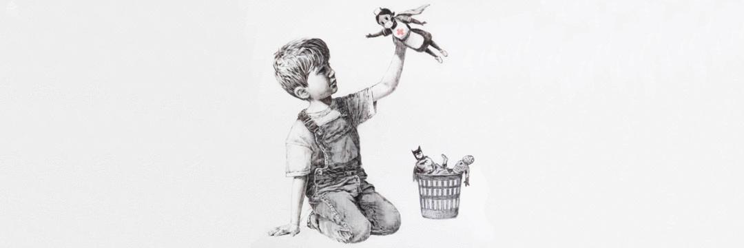 Nova obra de Banksy mostra enfermeira britânica como super-heroína