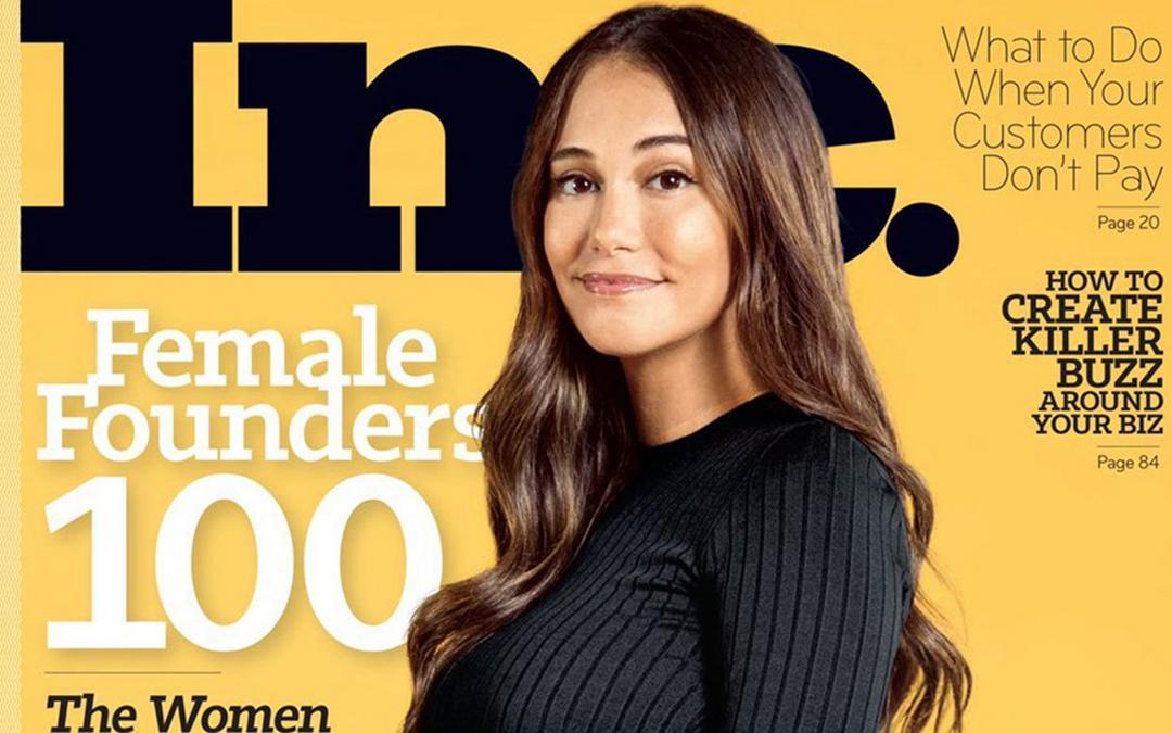 Audrey Gelman comemora ser a primeira 'CEO visivelmente grávida' na capa da revista Business