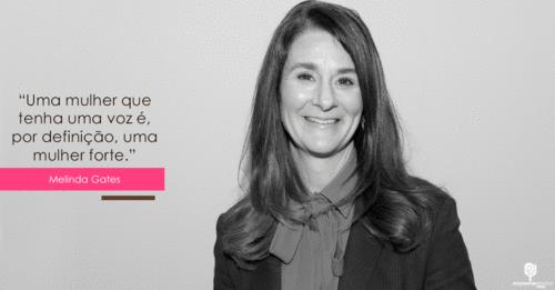 """Melinda Gates: """"Empoderamento feminino muda o mundo"""""""