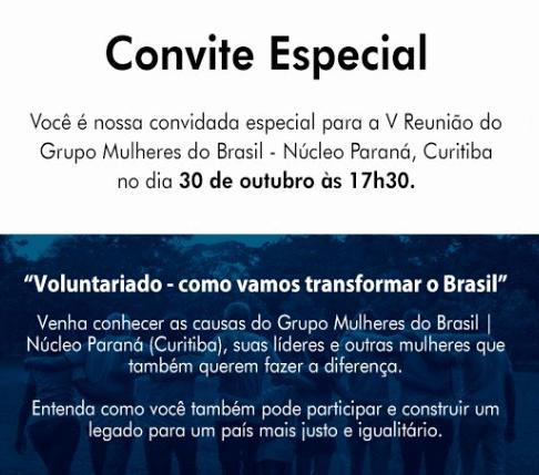 V Reunião do Grupo Mulheres do Brasil | Núcleo Paraná