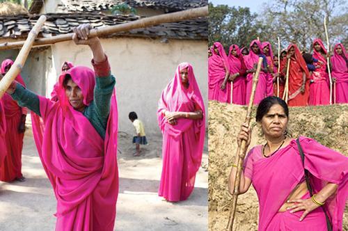 Sari cor de rosa