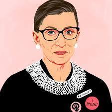 A juíza Ruth Bader Ginsburg, uma popular heroína