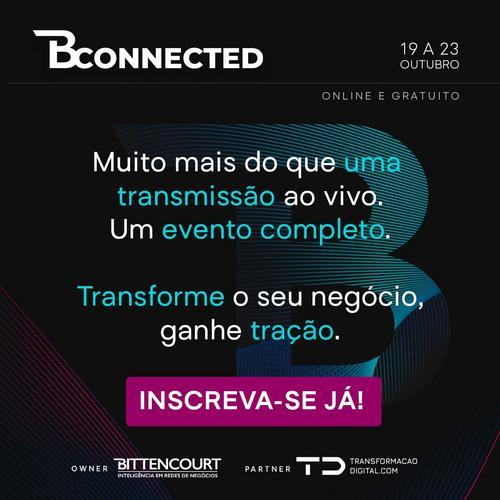 Apoiamos o BConnected: Faça parte!